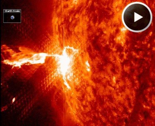 L'éruption solaire du 25 février 2014