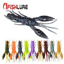 4pcs/lot Afishlure AR-14 hammer Crab clamp Shrimp 80mm 5.5g claw Bait artificial lure sauce green bait Swimbait Fake Fish Peche