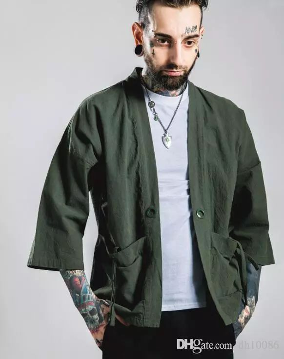 Wholesale cheap streetwear online, style2 - Find best mens 2016 new fashion streetwear mens noragi kimono japanese jackets kanye west jacket hemp men jackets at discount prices from Chinese men's casual shirts supplier - dh10086 on DHgate.com.
