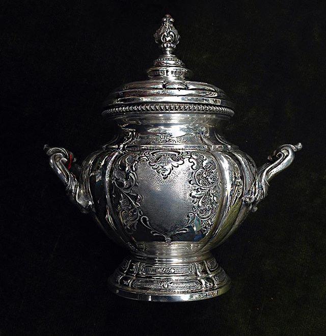#в_наличии_old_europe Сахарница, серебро 430 гр. #inselly #серебро #серебрянаяпосуда #посуда