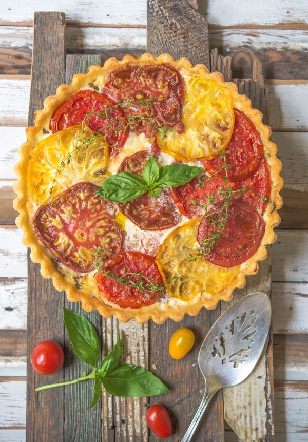 Tomato Pie with Basil and Gruyere