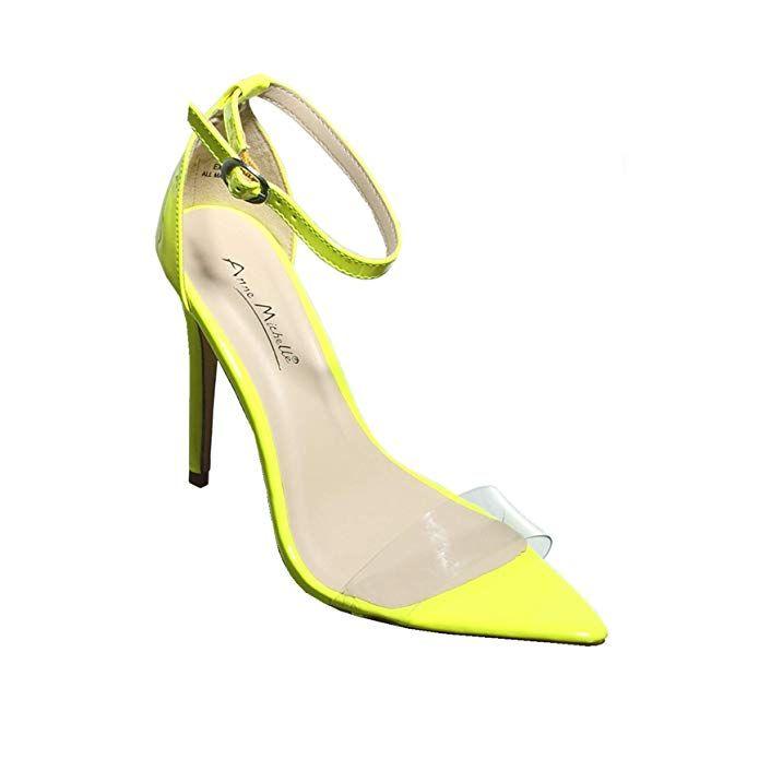d83c59ceec532 Amazon.com   shoewhatever Women's Ankle Strap Clear Sandal High Heel ...