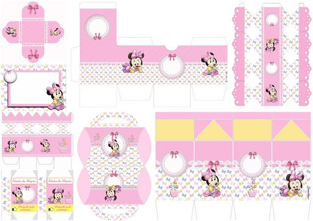 Lovely Minnie Baby: Invitations and Free Printable Boxes.