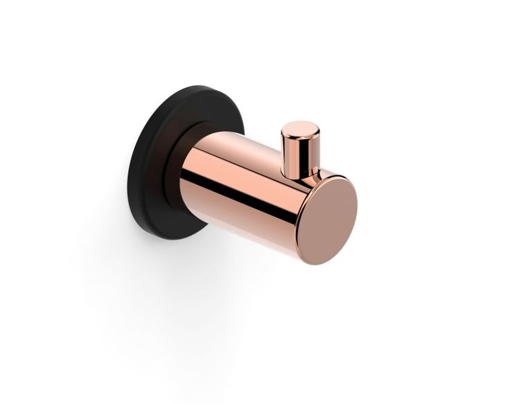 Our Pegasi Robe Hook shown here in Switzrok Matte Black & Rose Gold is able to be customised in any of our colour finishes. #faucetstrommen