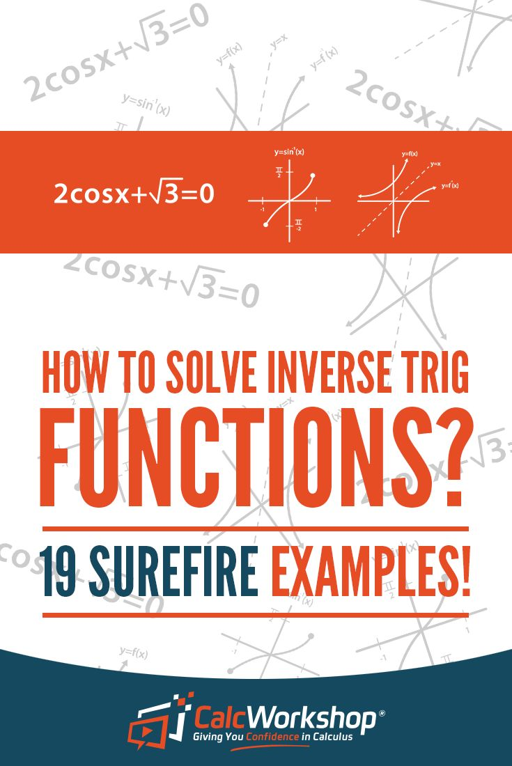 Inverse Trig Functions - EXCELLENT video lesson with 19 Example Problems.  Learn how to graph and evaluate inverse trig functions.  Terrific for new algebra teachers. Perfect for high school and middle school math courses. As a bonus, learn how use the unit circle, reference triangles, and trigonometric identies to solve inverse trig functions.  Watch it today! #homeschooling #math