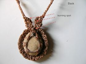 Ecocrafta: Macrame wrapping: Extended pattern