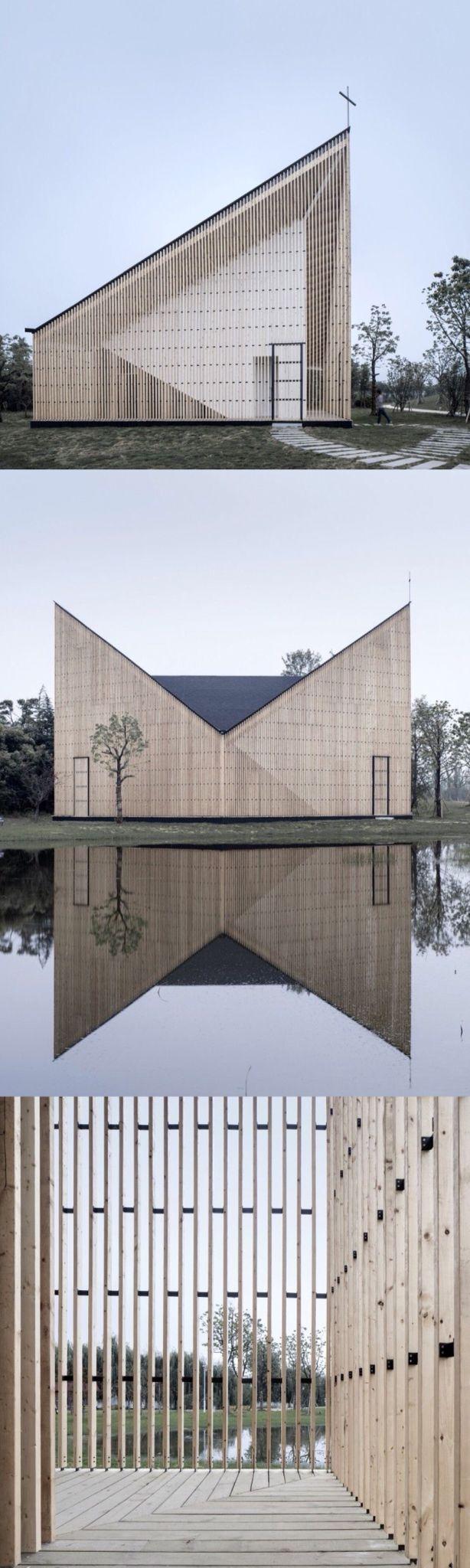 Visions of the Future // Nanjing Wanjing Garden Chapel / AZL Architect. Geometric design - triangular.