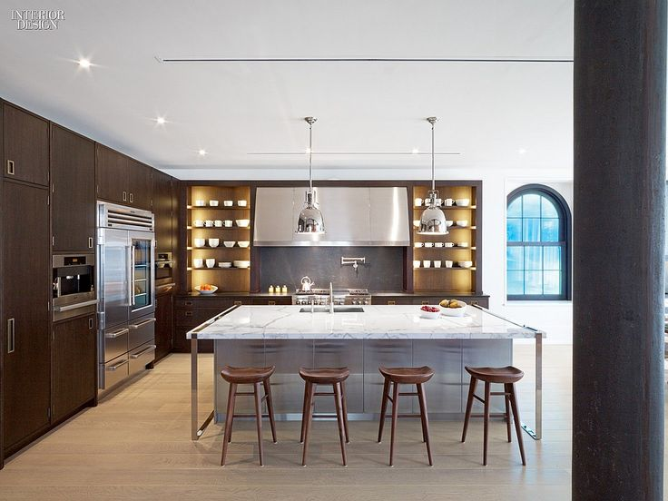 30 Simply Amazing Interiors at NYC Residences | Interior Design | #kitchen #kitchenisland
