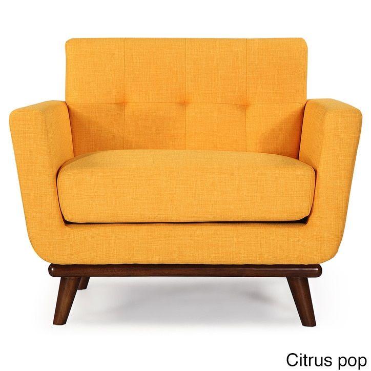Kardiel Jackie Mid-Century Vintage Tailored Twill Modern Classic Chair (