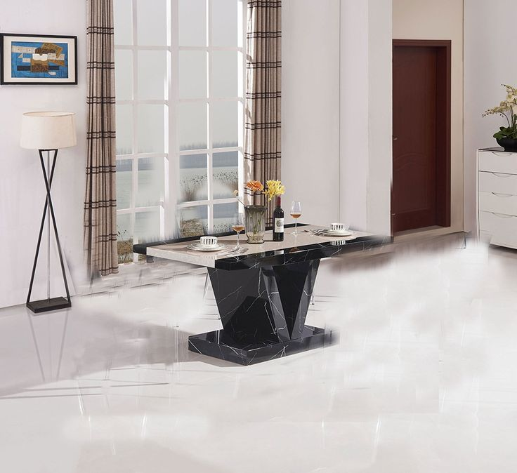 Brand new item Marble Effect Hig... available to buy at http://discountsland.co.uk/products/marble-effect-high-gloss-dining-table-black?utm_campaign=social_autopilot&utm_source=pin&utm_medium=pin. Get #discounts on #furniture #homedecor