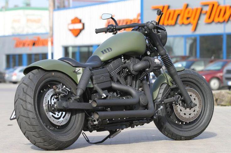 A customized Dyna Fat Bob - military style Harley-Davidson of Long Branch  www.hdlongbranch.com