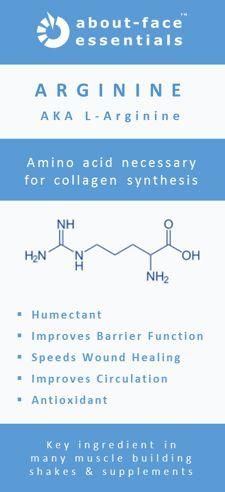 Ingredient Radar: L-Arginine  #betterskin #skinhealth #aminoacids #collagensynthesis #barrierfunction #humectant #antioxidant #woundhealing
