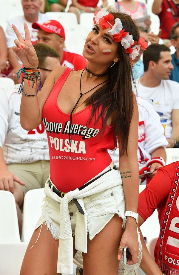 Polish hottie - Our Girl of the Game at the #Poland vs #Portugal match at #EURO2016 #football championship finals.  View ALL Girls of the Game: http://euro2016girls.com/hot/girls-of-the-game/