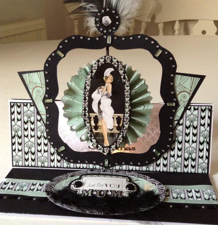 Art Deco easel card