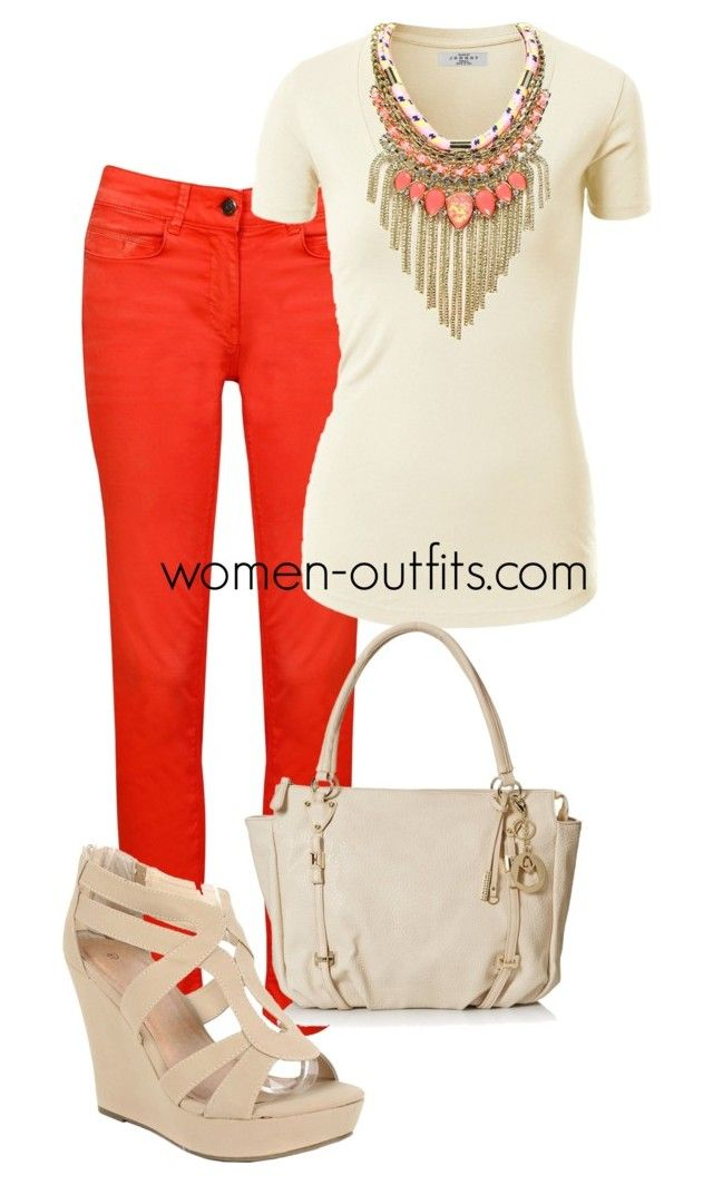 coral necklace by xwtiko on Polyvore featuring Relish