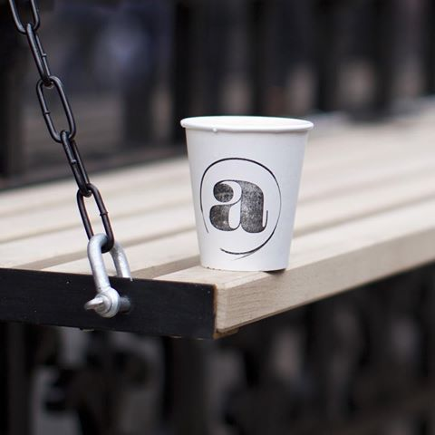 One from the archive: the branding we created for the @attendant_uk #theattendant coffee shop.  .  .  .  .  #coffeeshop #branding #logocreation #coffeecup # #roastery  #london #coffeeshopbranding #packaging #creativestudio
