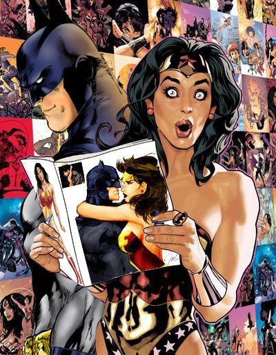 Haha this is great.  batman & wonder woman!