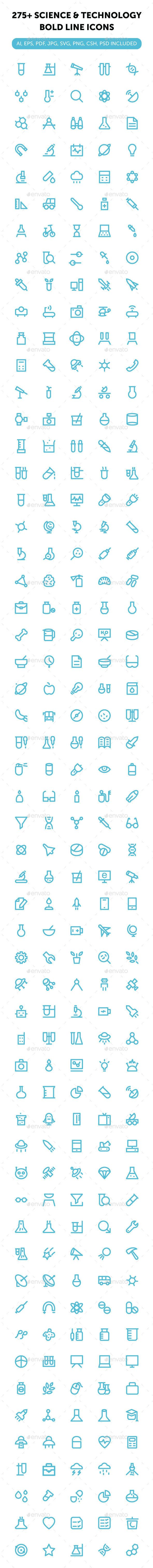 275+ Science and Technology Icons #design Download: http://graphicriver.net/item/275-science-and-technology-icons/13311488?ref=ksioks