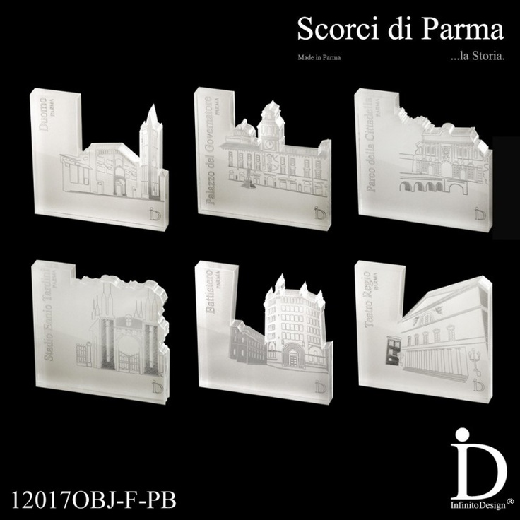 COFANETTO REGALO - 6 Fermacarte in plexiglass con pellicola bianca, tagliato al laser ed inciso, Collezione Scorci di Parma. Oggetto: Fermacarte Design di Parma {Cofanetto} - - - - - - - - - - - - - - - - - - - - - - GIFT BOX - 6 Paperweight plexiglass with white film, laser-cut and engraved, Collection Glimpses of Parma. Subject: Paperweight Design of Parma {Box} - - - - - - - - - - - - - - - - - - - - - - - - - - - - - - - - #gift #fermacarte #plexiglass #parma #madeinitaly #paperweight
