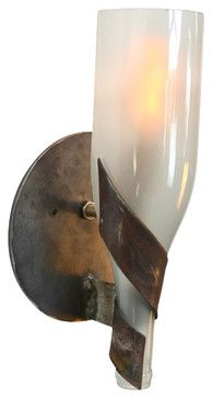 """Elegance - """"Dulcet"""" - Wine Bottle Wall Sconce - eclectic - Wall Sconces - Wine Country Craftsman"""