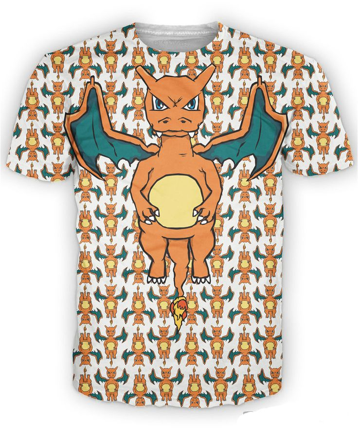 the Pokemon Charizard T-shirt Women Summer Style Clothing 2015 3D Print  conquered skies Shirt