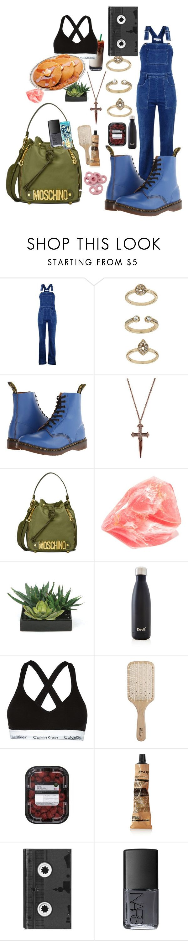 """""""unit 4"""" by inspiredbyart345 ❤ liked on Polyvore featuring STELLA McCARTNEY, Topshop, Dr. Martens, Moschino, Lux-Art Silks, S'well, Calvin Klein Jeans, Philip Kingsley, Aesop and Luckies"""