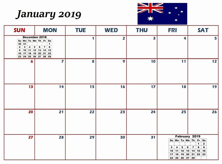 Free Download Calendar January 2019 Academic Calendar 2019 January
