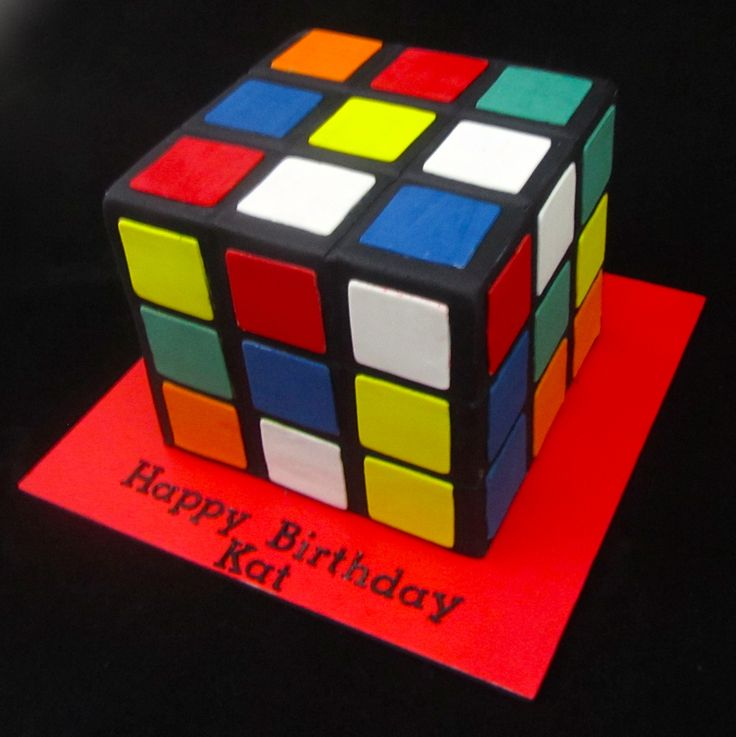 1000 Images About Rubik S Cube Cake On Pinterest