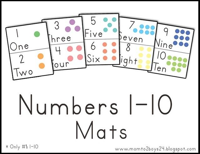 Numbers 1-10 mats: Preschool Math, Free Printable Numbers, Numbers Mats, Math Ideas, Math Activities, Math Numb, Lawteedah, Mats 1 10, Classroom Ideas