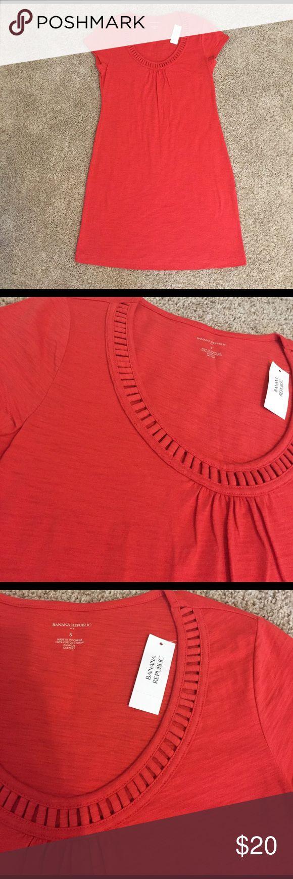 Red orange t shirt dress 100% cotton. Bundles available! Banana Republic Dresses