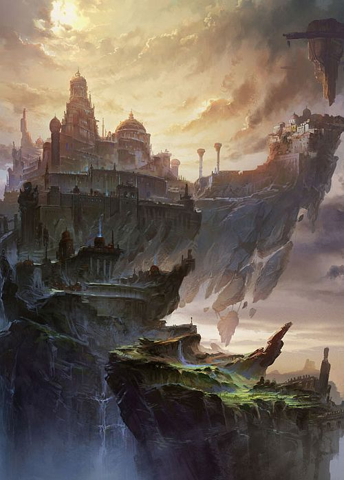 Skyfast floating castles /// MING FAN   #ConceptArt from alextooth.tumblr . com