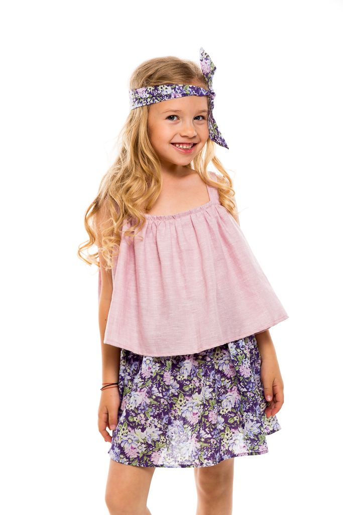 Casual summer dress in soft fluid textures and beautify colors and prints. With love from Designers for kids