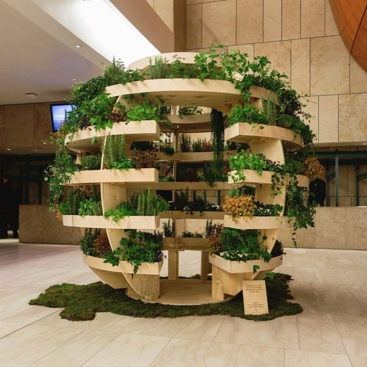 """SPACE 10, Copenhagen, Denmark, """"The Growroom"""", (A spherical shaped, vertical garden which will allow people to grow their own food, in a local sustainable way), photo by Trend Prive, pinned by Ton van der Veer"""