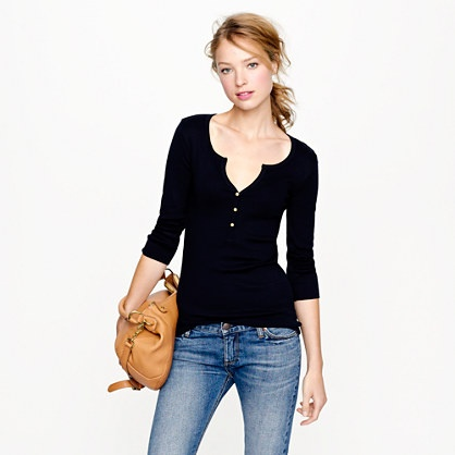 black shirt: Perfectfit, Gold Buttons, Perfect Fit Henley, Tanks Tops, Women Knits, Causal Outfit, Jcrew, T Shirts, Everyday Outfit