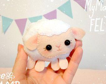 Little bear felt ornament Bear toys felt Nursery by MyMagicFelt