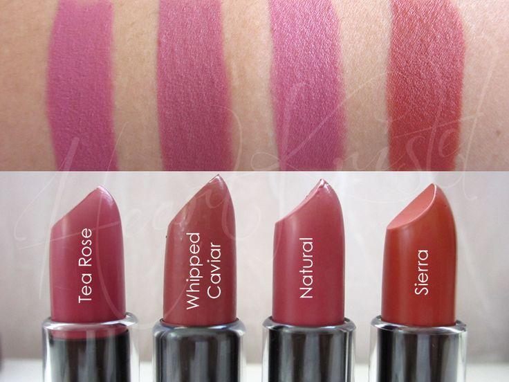 HEART ♥ KRiSTEL'S BEAUTY BLOG: NYX Matte Lipstick Swatches (Tea Rose, Whipped Caviar, Natural, Sierra)