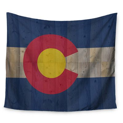 "East Urban Home Flag of Colorado by Bruce Stanfield Wall Tapestry Size: 60"" H x 80"" W"