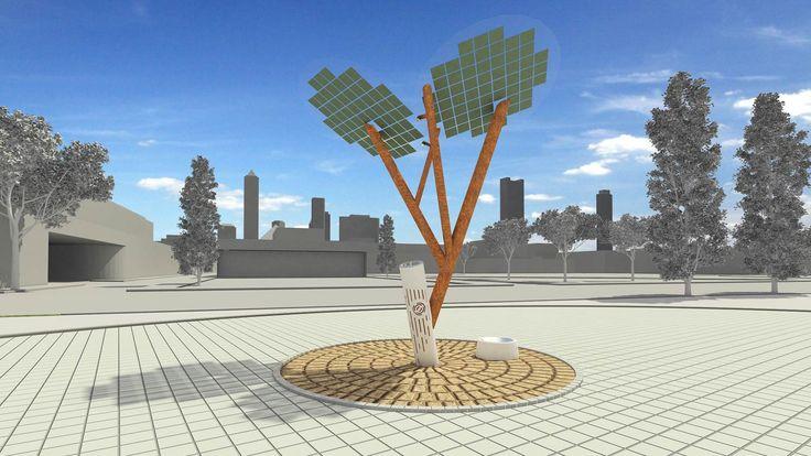 La firma israelí Sol-OGIC ha desarrollado un árbol artificial que se alimenta y usa energía solar; están instalandolo en Nevers, Francia. El e-árbol proporcionar ademas de sombra, puertos de USB pa…