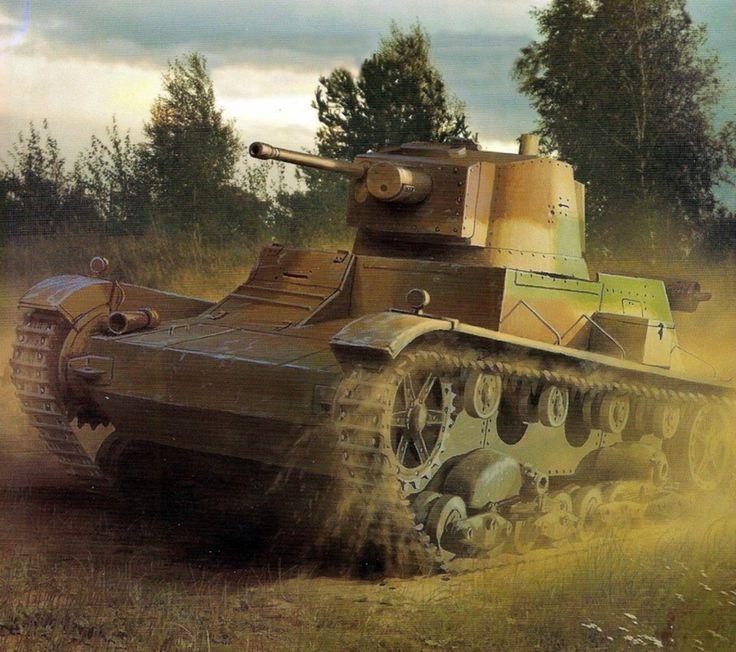 Broń pancerna II RP 7TP – polski czołg lekki. 1 Batalion Czołgów Lekkich, Przedbórz wrzesień 1939. Rys. Jaroslaw Wróbel. https://www.facebook.com/wojskopolskie19391945/photos/a.378969635634715.1073741831.376641135867565/379461885585490/?type=1