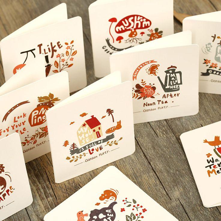 3 + 3 конверт / много свежих стиле мини открытки спасибо рождественская открытка конвертов писчая бумага купить на AliExpress
