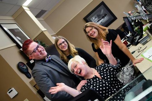 Meet the Crowfoot team!  Stylish and fun, let them help you with all of your eyewear needs. #yyc #Calgary #yycfashion