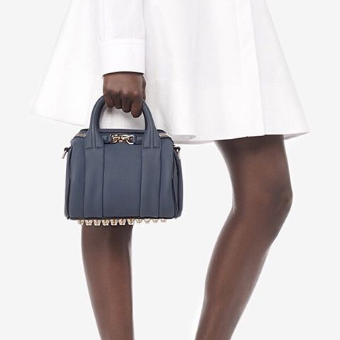 The Mini Rockie arrives in haze for #Resort2016. Explore more classic bags & shop exclusive new colors available only in #AlexanderWang stores & on AlexanderWang.com #AWDebut