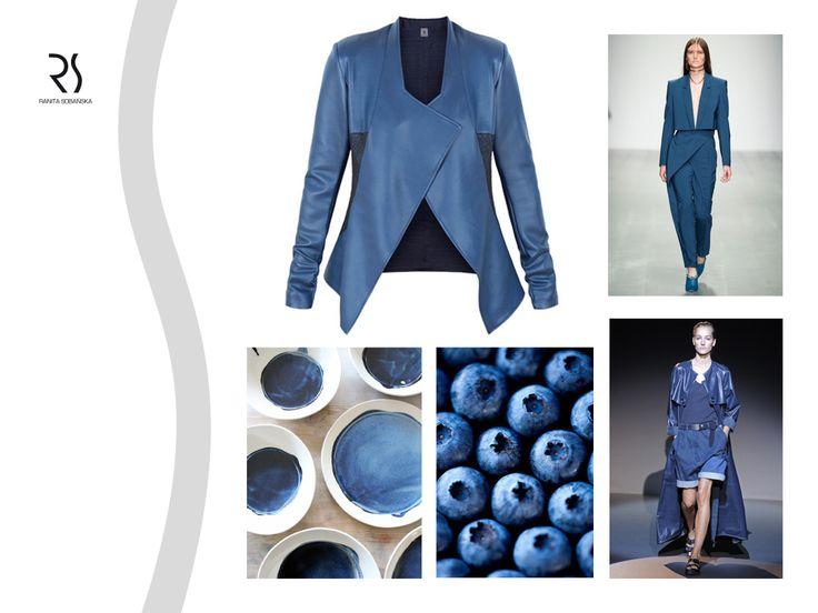 Niebieski kompletnie zawładnął naszymi myślami!  Odwiedźcie naszą stronę w poszukiwaniu inspiracji w tym kolorze: http://www.ranitasobanska.com/ #ranitasobanska #fashiondesinger #blue #jacket