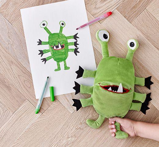 Knuffels ontworpen door kinderen
