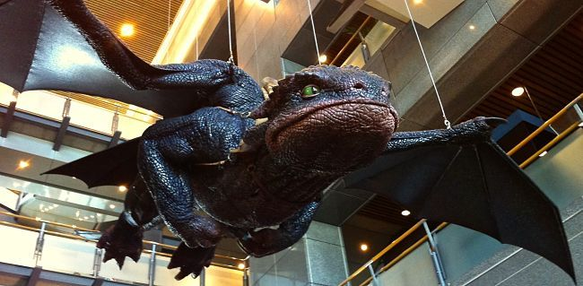 Te Papa Museum in Wellington, perhaps the best in New Zealand. Check out this friendly dragon!