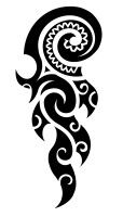 koru, flame, fire, change, transformation, new beginning, maori fern - this would actually be perfect in the design because I'm going through change and transformation at the moment!