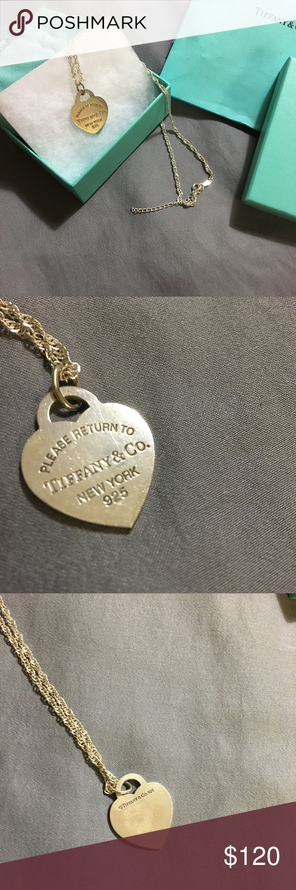 TIFFANY STERLING SILVER NECKLACE Beautiful  9 inch sterling silver necklace by Tiffany only worn a few times comes with box and bag I will put in the shipment a silver bar necklace 6 inches in length Tiffany & Co. Jewelry Necklaces