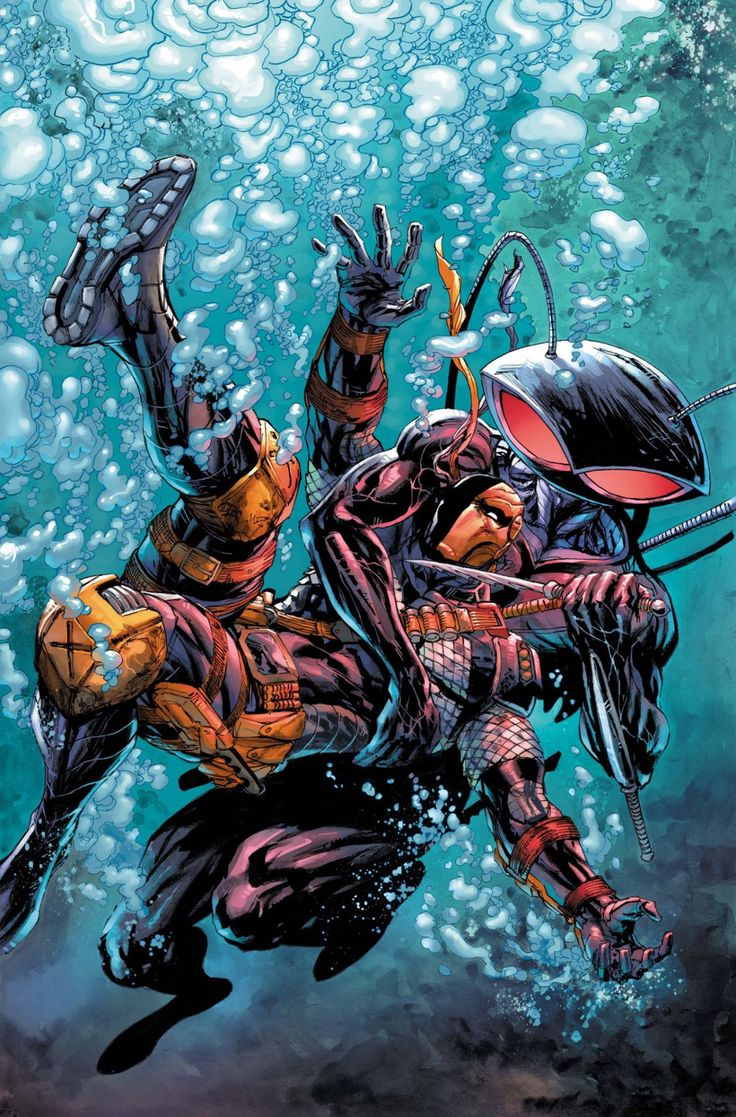 Deathstroke vs  Black Manta by Tyler Kirkham  colours by Arif Prianto