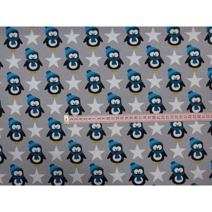 Pinguin Stern grau Baumwolljersey Baumwolle, Kinder