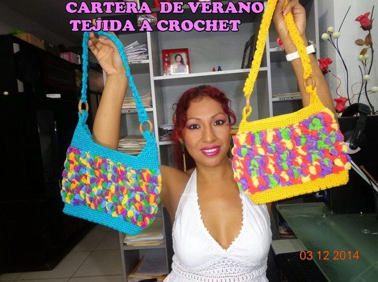 CARTERA DE VERANO PARA NEGOCIO TEJIDO A CROCHET PASO A PASO CON VÍDEO TUTORIAL | Patrones Crochet, Manualidades y Reciclado